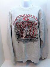 Vintage Cincinnati Reds Sweatshirt Large World Champions Gray 1990 Made in USA