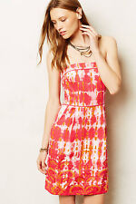 New Anthropologie Fresno Ikat Dress by Tabitha, Red, 10, removable Strape, $198