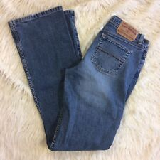 Express Womens 5 6 Long Blue Jeans Flare Stretch Low Slung Precision Fit 28x33