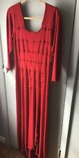 Linda Lundstrom Dress Red Long Sleeve Fitted Bodycon long Gown Size 8 NEW Canada