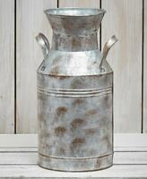 Rustic Country Farmhouse Galvanized Milk Can Vase