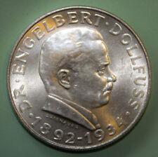 Austria 2 Schilling 1934 Brilliant Uncirculated Silver Coin - Engelbert Dollfuss