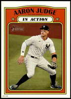 Aaron Judge 2021 Topps Heritage 5x7 #122 /49 Yankees In Action