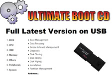 UBCD Ultimate Boot CD Windows 10 7 8 Xp Vista Usb Repair, Recovery, Anti Virus