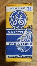 VINTAGE GE 31 Photoflash Flash Bulbs Lamps New Old Stock Focal Plane