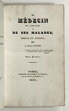 Munaret. DU MEDECIN DE CAMPAGNE. 1838. Rural French medicine for young doctors..
