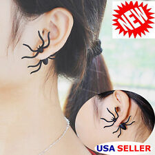 Halloween Party Black Spider Charm Ear Stud Earrings Gift Jewelry Hot 1pc Latest