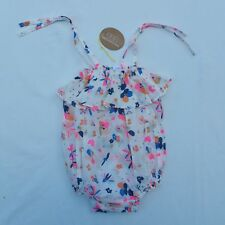 EGG by Susan Lazar Ella Girls Baby Toddler Romper White Print Size 18M NWT