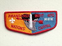AMANGAMEK WIPIT OA LODGE 470 SCOUT SERVICE PATCH FLAP WASHINGTON MONUMENT RED