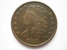 More details for united states 1834 copper half cent gvf