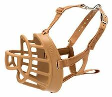 New listing Baskerville Ultra Muzzle dog muzzle to prevent biting and chewing humane dog .