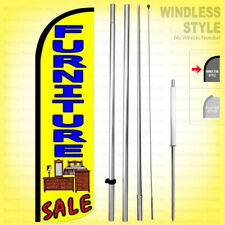 Furniture Sale Windless Swooper Flag Kit 15 Feather Banner Sign Yq H