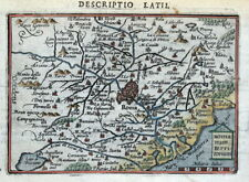 ROME, ROMA, ITALY. Latii, Romanum Territorium, BERTIUS original antique map 1618