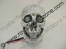 BRAND NEW ROYAL ENFIELD CHOPPER BOBBERR SKULL HEADLIGHT WITH LIGHT IN EYES