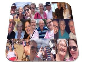 Personalised Printed Coaster, Photo Collage your own photos, Birthday gift