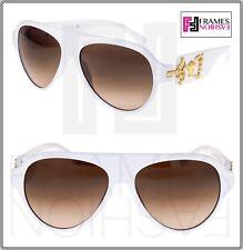 VERSACE Rock Icon Medusa 4323 White Gold Brown Gradient VE4323 Sunglasses