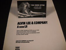 Ten Years After Alvin Lee & Company 1972 Promo Poster Ad mint condition