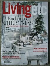 Living Etc December 2017 Enchanted Christmas Baubles Trees Wreaths Homes Sequins