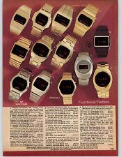 1978 PAPER AD LED Wrist Watch Westclox Armitron Helbros Waltham Elgin Hamilton