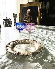 Val St. Lambert, Set of Two Cordial Stems Glasses, Concord Pattern