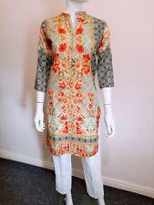 Pakistani Indian Ladies Casual Tunic Top Women Linen Kurta/Kurti
