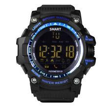 Blu Resistente Sport Smart Watch Impermeabile Fitness Tracker No di Ricarica G40