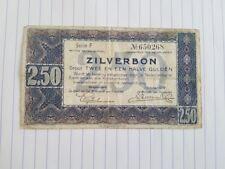 Nederland , Zilverbon 2,5 gulden 1938 , serie F 650268
