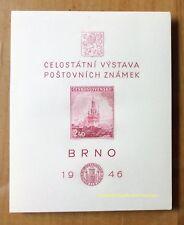 EBS Czechoslovakia 1946 Brno Stamp Exhibition Miniature Sheet Block 9 MNH**