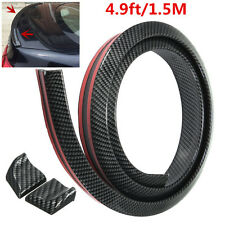1.5M Carbon Fiber Soft Rubber Car Rear Roof Trunk Spoiler Wing Lip Trim Sticker