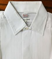 Vintage pleated dress shirt cotton voile Collar size 16 Webster Bros mens
