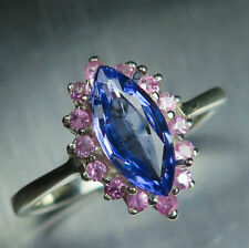 Marquise Sterling Silver Sapphire Fine Rings