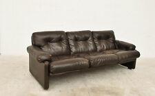 3 seater leather sofa Coronado by Afra e Tobia Scarpa for B&B Italia 70s