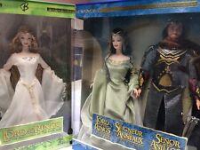 Édition limitée, le seigneur des anneaux, Arwen, Aragorn et Galadriel 3 Lot Barbie une