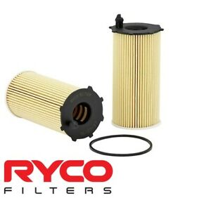 RYCO HIGH FLOW CARTRIDGE OIL FILTER FOR JEEP WRANGLER JK ENS TURBO DIESEL 2.8 I4
