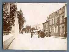 Poitiers, Rue du Faubourg du Pont Neuf  Vintage citrate print.  Tirage citrate