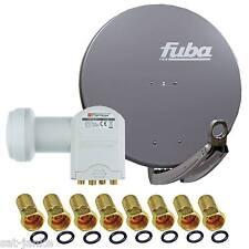 FUBA 4 Teilnehmer Sat Anlage DAA 850 Schüssel 85cm LNB OPTICUM Quad 4 fach LMB