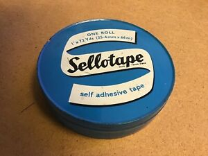 Vintage Sellotape Tin 1960's