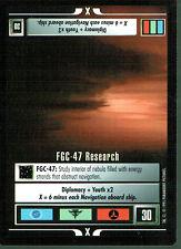 STAR TREK CCG ALTERNATE UNIVERSE RARE CARD FGC-47 RESEARCH
