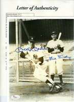 Mickey Mantle Bill Dickey Jsa Coa Autograph 8x10 Photo Hand Signed Authentic