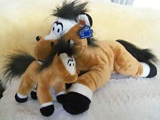 """Mother and colt baby plush stuffed Horse 14"""""""