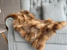 Real Fur Throw Rabbit Fur Blanket Luxury Anniversary Gifts Living Room Blanket