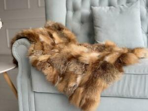 Real Fox Fur Throw Blanket Luxury Living Room Blanket Fourrure Pelz Pelliccia