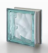 1 Stück Seves Glasbaustein Glassteine Wolke Türkis Metallic 19x19x8cm Q 19 O MET