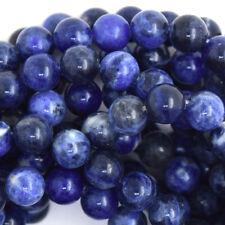 Blue Sodalite Round Beads Gemstone 15.5