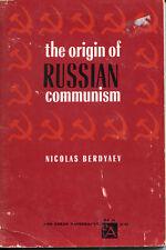 RUSSIAN COMMUNISM, The Origin Of NICOLAS BERDYAEV 1960 1st Ed Paperback