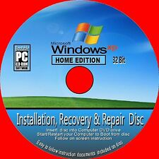 windows xp home edition 32 bit mit sp3 saubere installation erholung reparatur cd rom neu