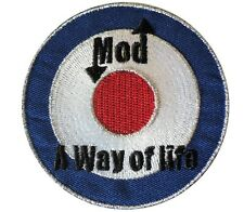 MOD A Way of Life RAF Target Scooterist Iron/ Sew On Embroidered MODS Patch