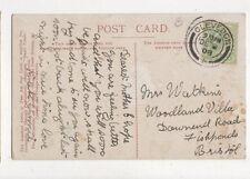 Mirs Watkins Woodland Villa Downend Road Fishponds Bristol 1908 694a