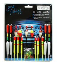 15 Piece Float Set Assorted Course Carp Fishing Tackle Floats & Rubbers RY186