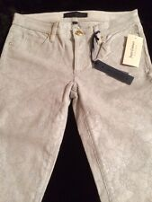 Juicy Couture Skinny Smoke Grey Sparkle Coated Corduroys Size 24 New! $178